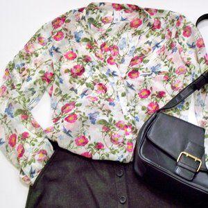 Kut from the Kloth Sheer long sleeve v-neck blouse